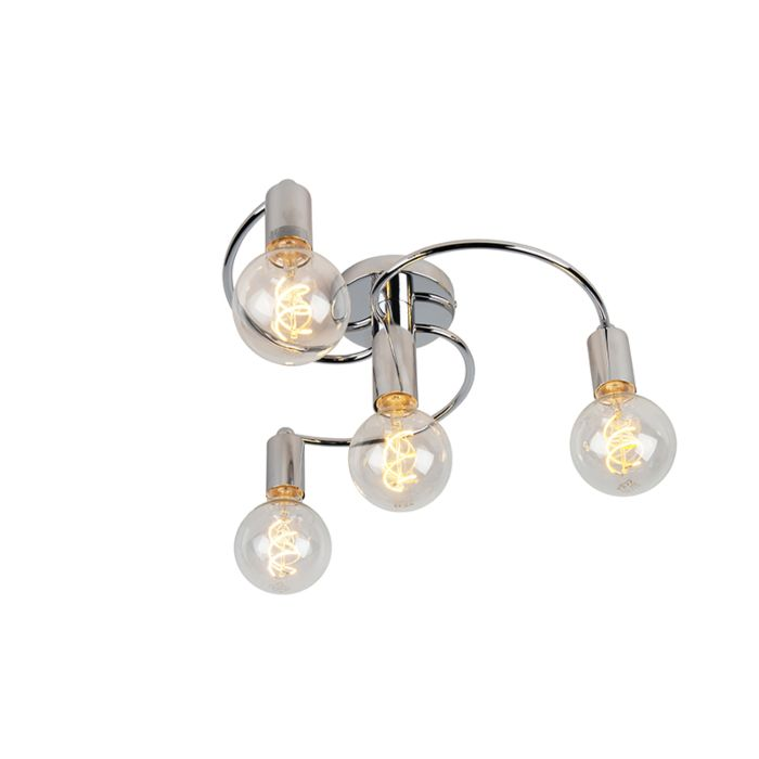 Art-deco-plafondlamp-chroom-4-lichts---Facil