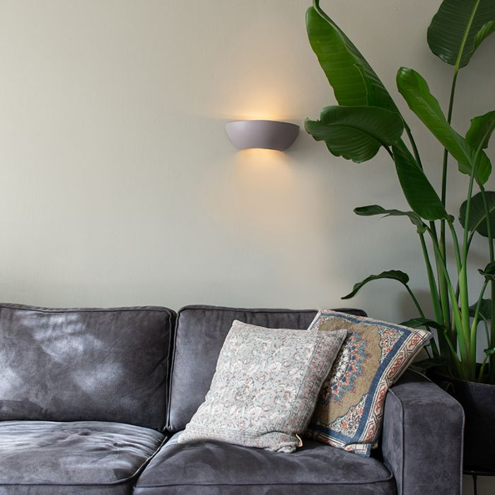Industriële-halfronde-wandlamp-beton---Chatou