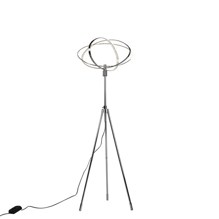 Design-vloerlamp-chroom-incl.-LED---Circus