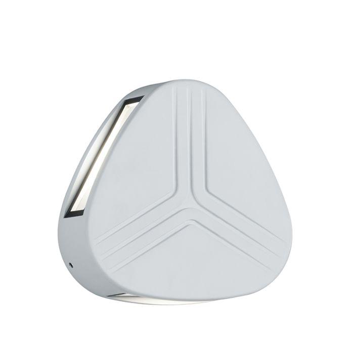 Moderne-driehoekige-buitenwandlamp-wit-IP54-incl.-LED---Spree