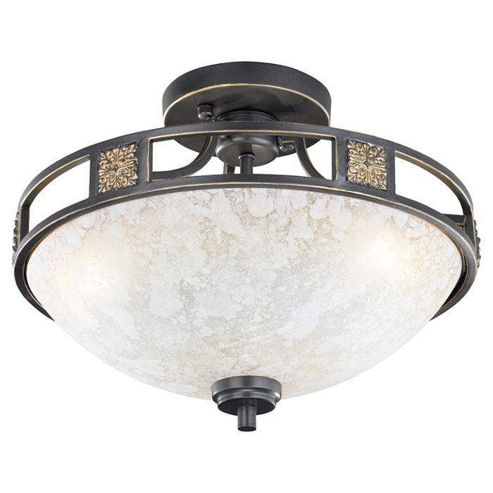 Landelijke-ronde-plafondlamp-roestkleur-42cm---Quinta