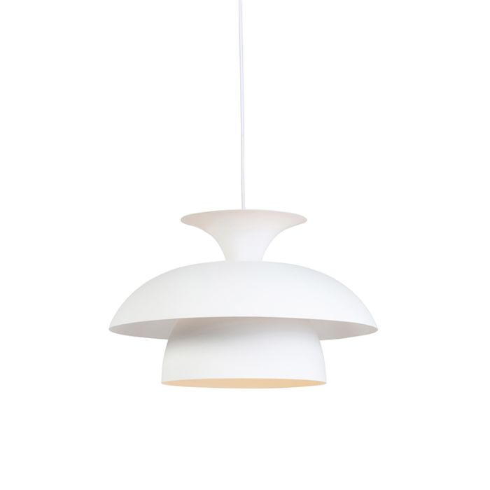 Moderne-ronde-hanglamp-wit-3-laags---Titus