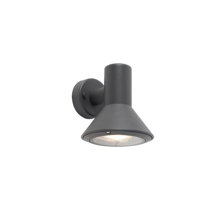 Moderne-buitenwandlamp-donkergrijs---Humilis