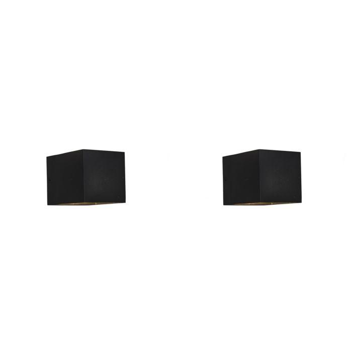 Set-van-2-moderne-wandlampen-zwart---Transfer
