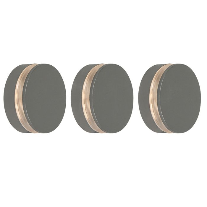 Set-van-3-wandlampen-antraciet-incl.-LED-IP44---Theo-Round