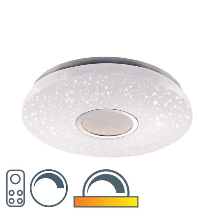 Moderne-plafondlamp-met-sterrenhemel-incl.-LED-afstandsbedieding---Jona