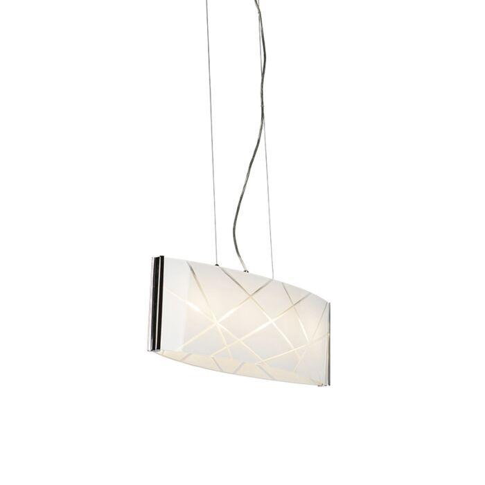 Design-hanglamp-chroom-met-glas-incl.-LED---Tabby