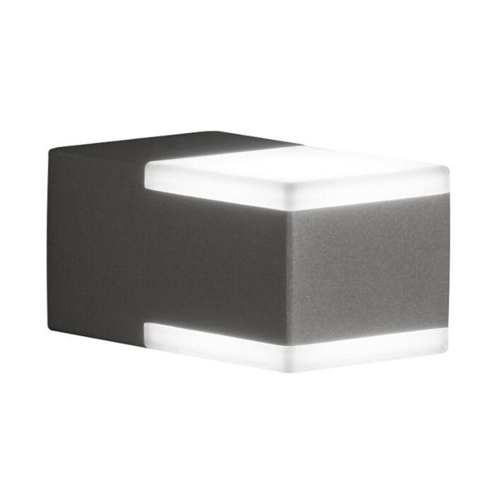 Moderne-vierkante-buitenwandlamp-antraciet-IP54-incl.-LED---Don