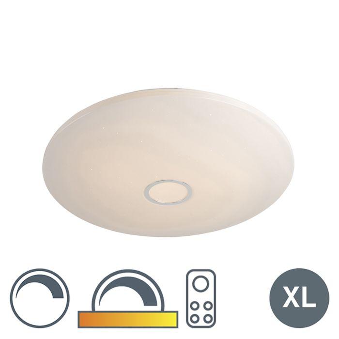 Plafondlamp-wit-80-cm-incl.-LED-80W-en-afstandsbediening---Jona