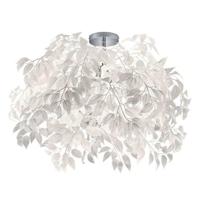 Moderne-plafondlamp-chroom-met-wit-70-cm---Feder