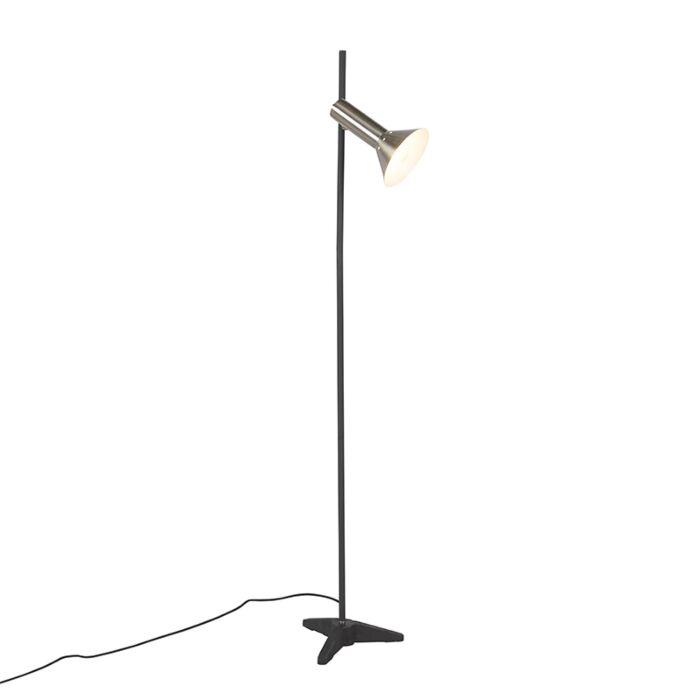 Moderne-vloerlamp-staal-1-lichts---Speaker