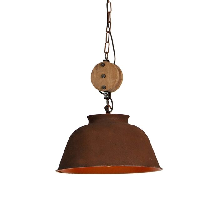 Industriele-ronde-hanglamp-roest-42cm---Bax