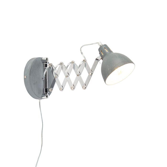 Industriële-wandlamp-grijs-verstelbaar---Forbici