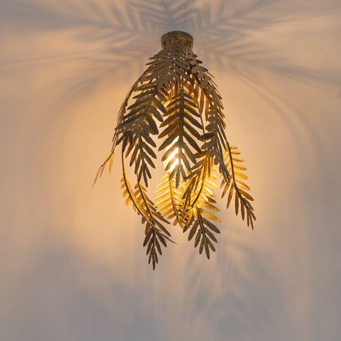 Vintage-plafondlamp-large-goud---Botanica