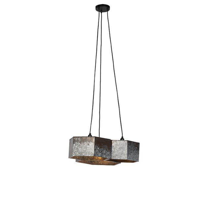 Vintage-hanglamp-roestkleurig-3-lichts---Comb