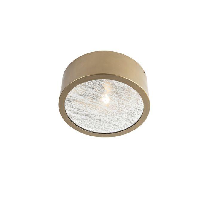 Art-Deco-ronde-plafondlamp-goud-met-antiek-glas---Anno