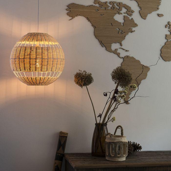 Landelijke-hanglamp-rotan---Rattan
