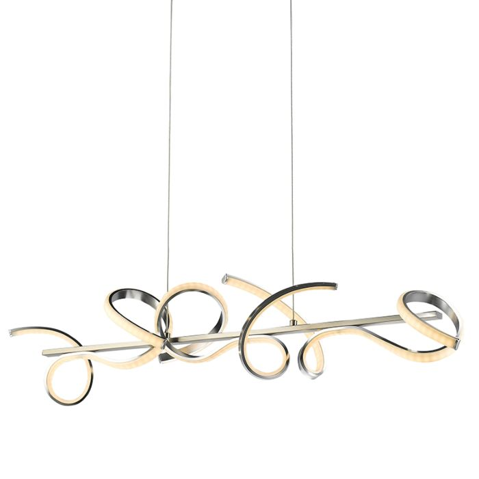 Hanglamp-met-gekruld-staal-incl.-LED-100-cm---Krisscross