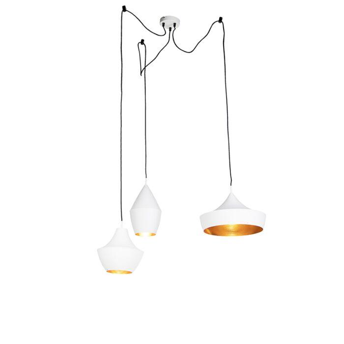 Set-van-3-Scandinavische-hanglampen-wit-met-goud---Depeche