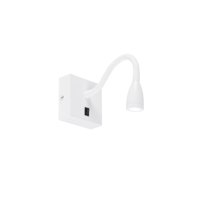 Moderne-flexibele-wandlamp-wit-LED---Flex
