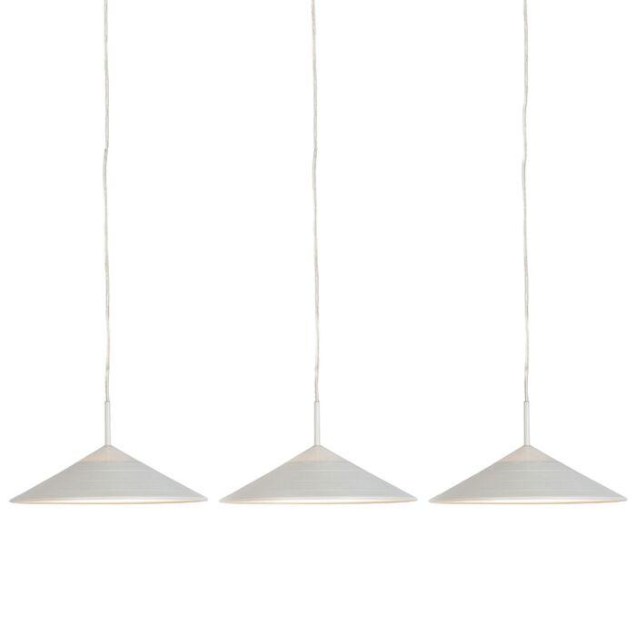 Set-van-3-moderne-hanglampen-wit-incl.-LED---Lupos