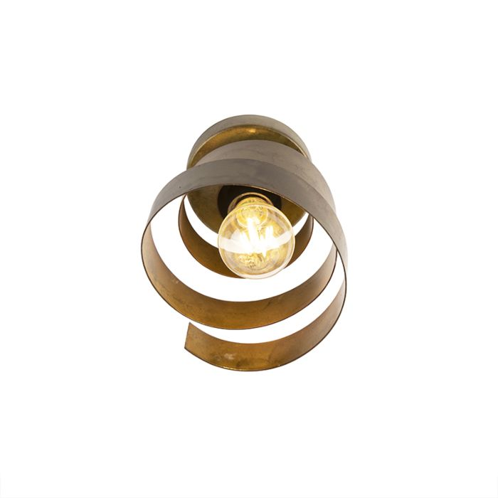 Vintage-plafondlamp-brons---Curl