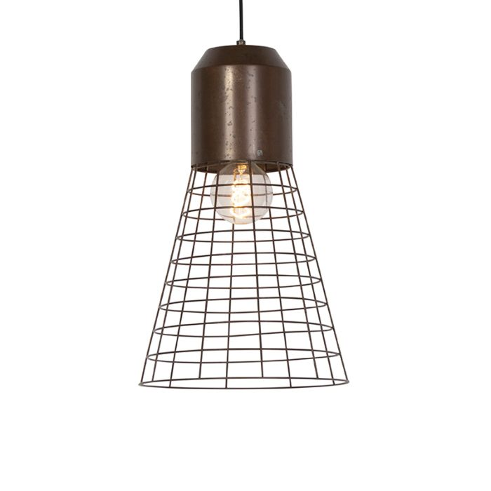 Industriele-hanglamp-roest-31cm---Fausa