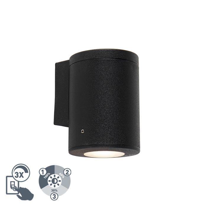 Moderne-wandlamp-zwart-IP55-incl.-1-x-GU10---Franca