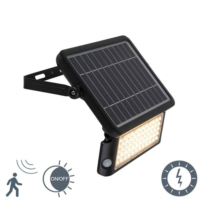 Straler-zwart-IP65-incl.-LED-met-beweging-sensor-10W---Teho