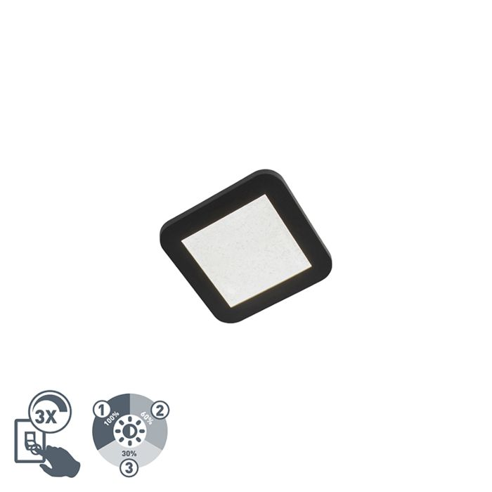 Plafondlamp-zwart-IP44-3-staps-dimbaar-incl.-LED---Steve