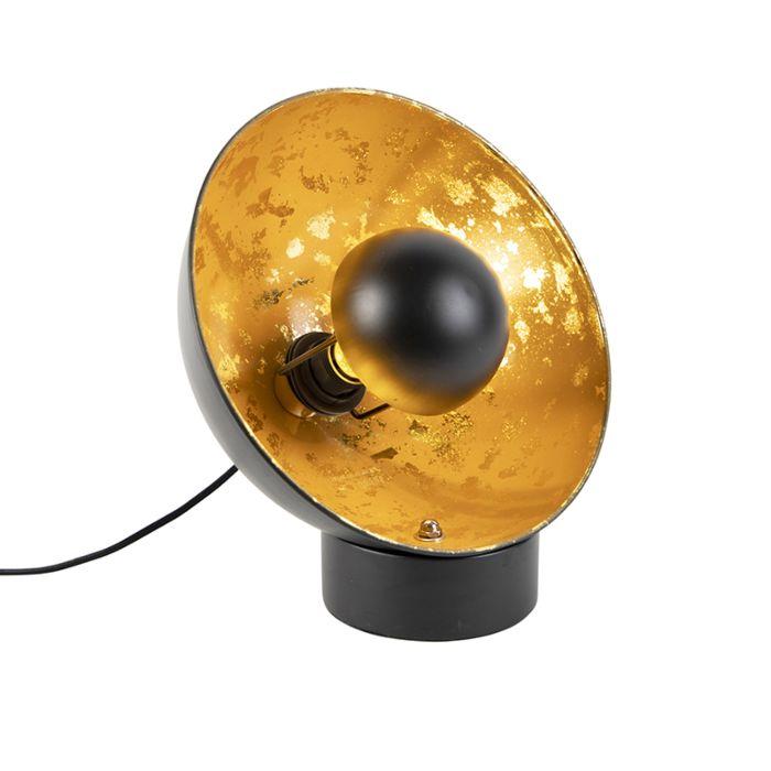 Industriële-tafellamp-zwart-met-gouden-binnenkant---Magna-Eglip