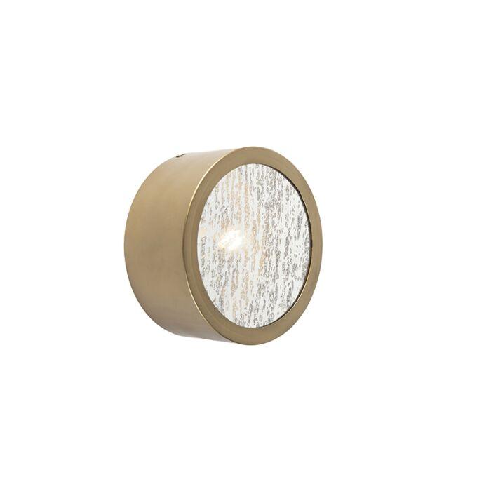 Art-Deco-ronde-wandlamp-brons-met-antiek-glas---Anno