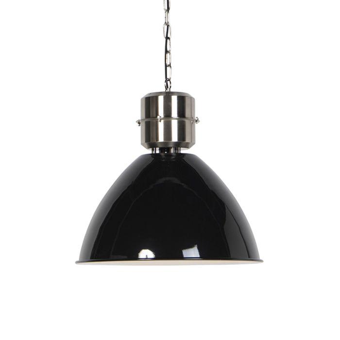 Industriele-hanglamp-zwart---Flynn