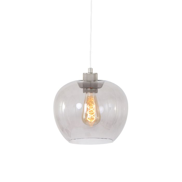 Moderne-hanglamp-staal-met-glas---Lori
