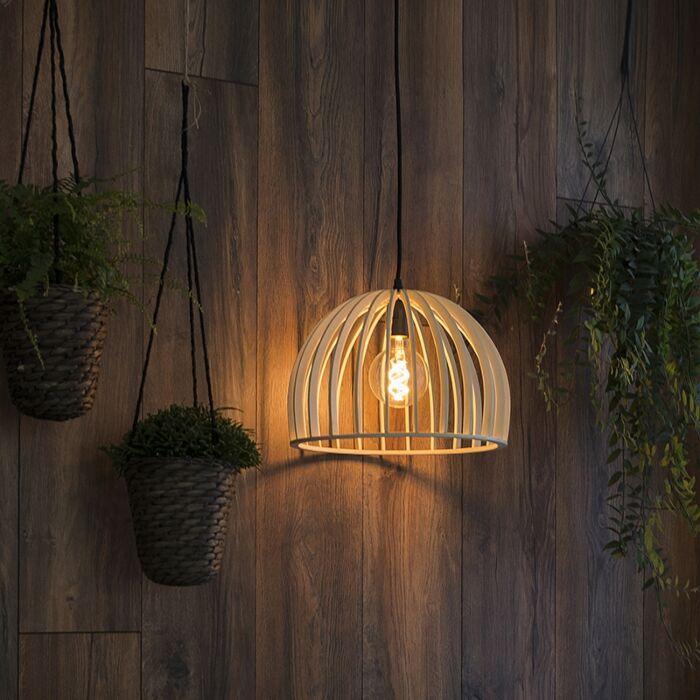 Landelijke-ronde-hanglamp-hout-35-cm---Twain