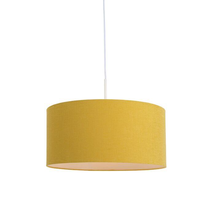 Hanglamp-wit-met-gele-kap-50-cm---Combi-1