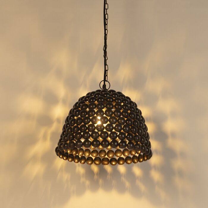 Vintage-hanglamp-35cm-staal---Lily