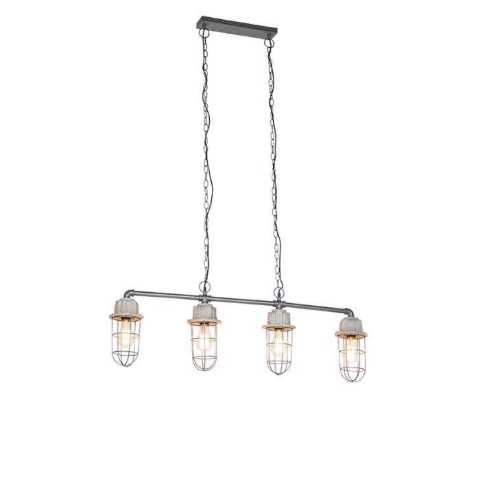 Industriële-hanglamp-beton-4-lichts---Mighty