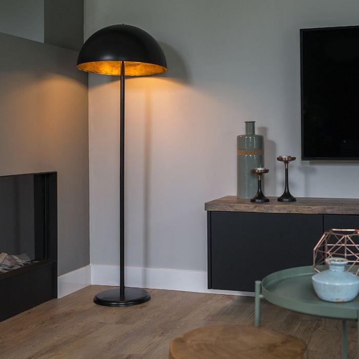 Industriële-vloerlamp-zwart---Magna