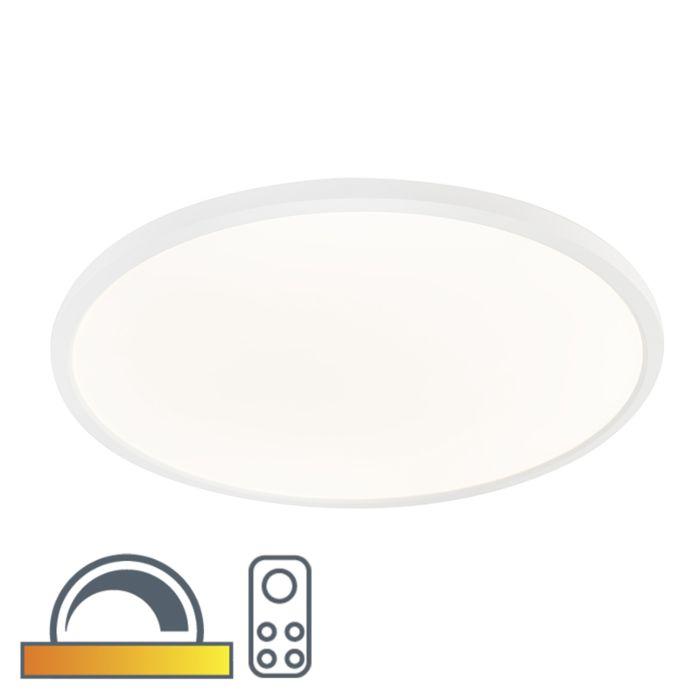Moderne-ronde-plafonnière-wit-60cm-incl.-LED-dim-to-warm---Flat