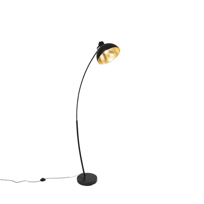Uitgelezene Scandinavische booglamp zwart met goud - Recife | Lampenlicht DE-18