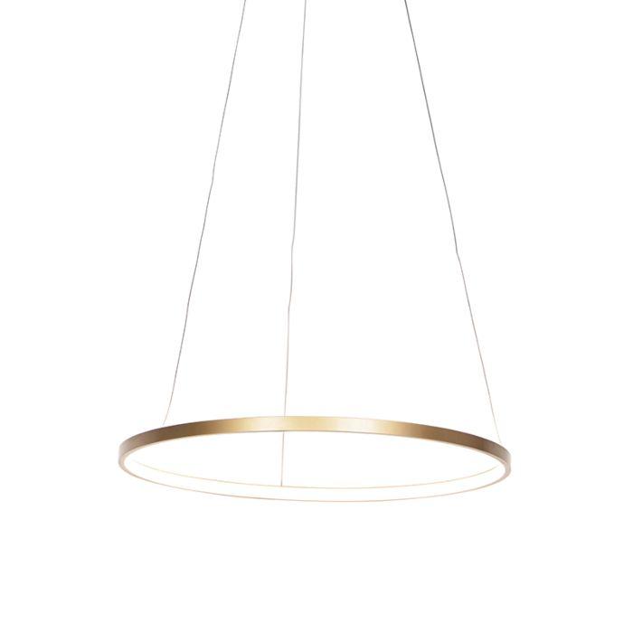 Moderne-ring-hanglamp-goud-60-cm-incl.-LED---Anella