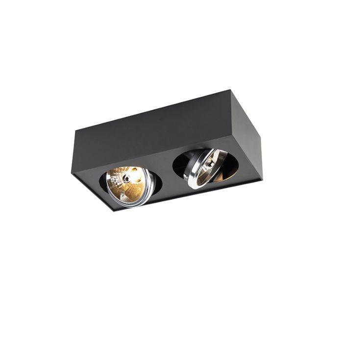 Design-spot-vierkant-2-lichts-incl.-G9-zwart---Kaya