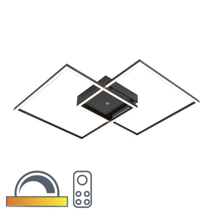 Plafondlamp-zwart-incl.-LED-en-afstandsbediening---Plazas-2