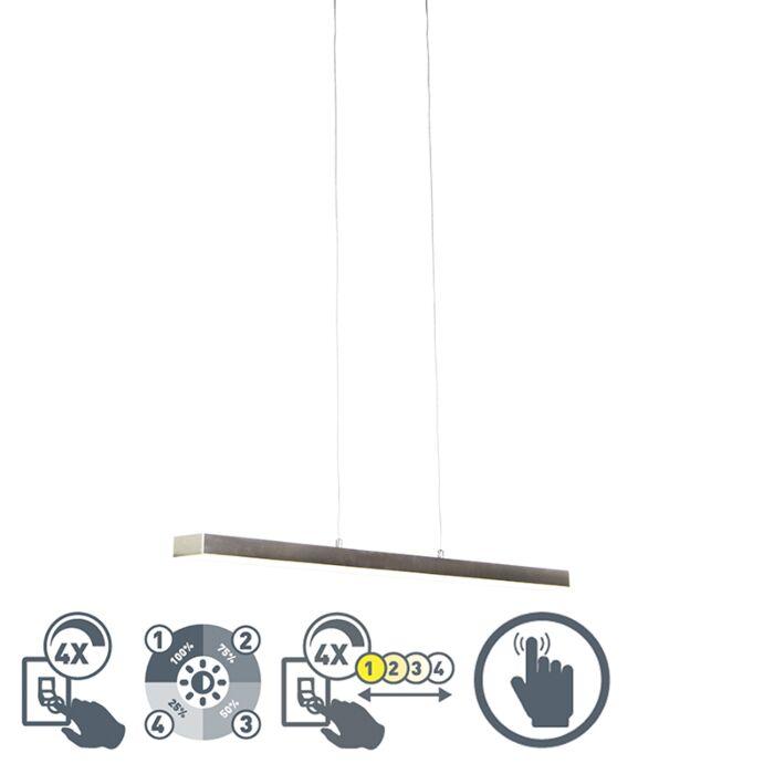 Hanglamp-staal-vier-staps-dimbaar-incl.-LED-met-touch-dimmer---Oganda