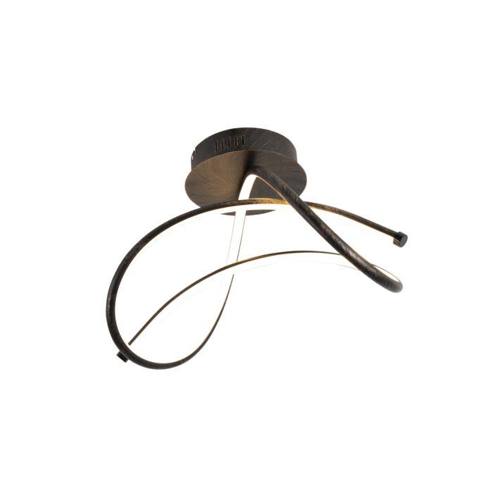 Design-plafondlamp-roestbruin-incl.-LED---Viola