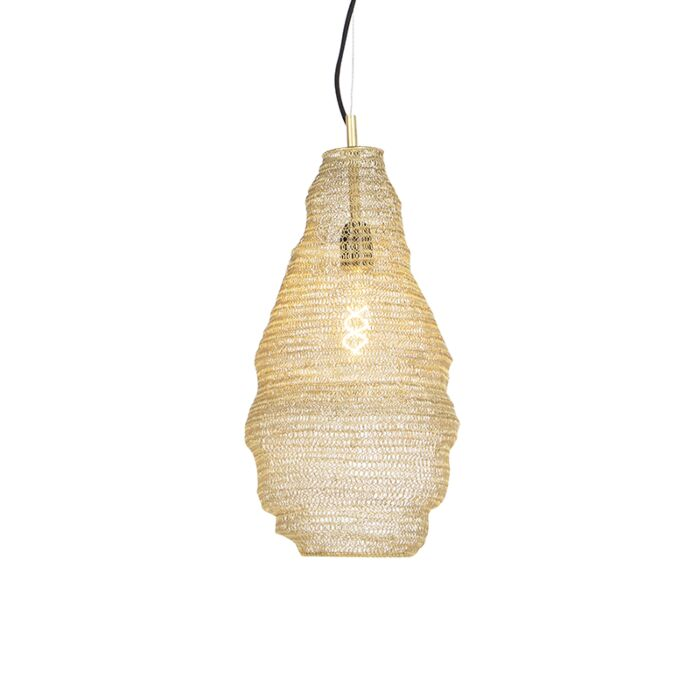 Oosterse-hanglamp-goud---Nidum-Rombo