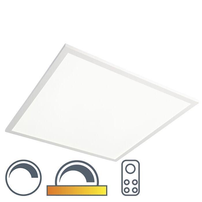 Vierkante-plafondlamp-wit-LED-met-afstandsbediening---Orch