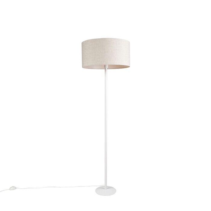 Moderne-vloerlamp-wit-met-peperkleurige-kap-50-cm---Simplo