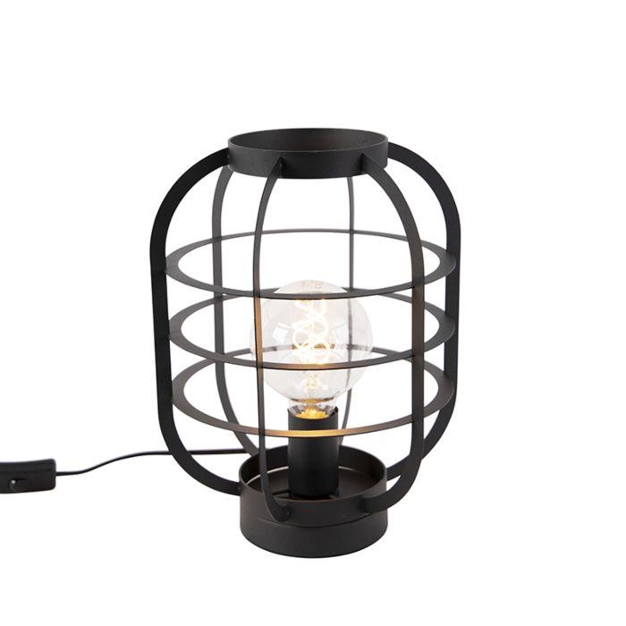Industriële-tafellamp-zwart---Zodiac